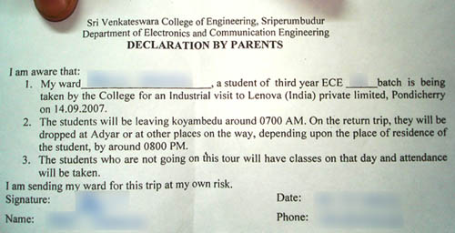 permission from parents please..